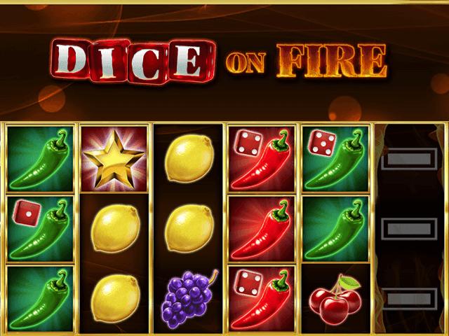 Начните играть в игровой аппарат Кости В Огне в режиме онлайн